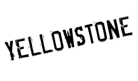 Yellowstone rubber stamp. Grunge design with dust scratches. Effects can be easily removed for a clean, crisp look. Color is easily changed. Illustration