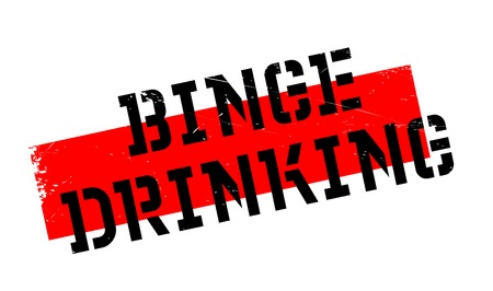 Binge Drinking rubber stamp. Grunge design with dust scratches. Effects can be easily removed for a clean, crisp look. Color is easily changed. Illustration