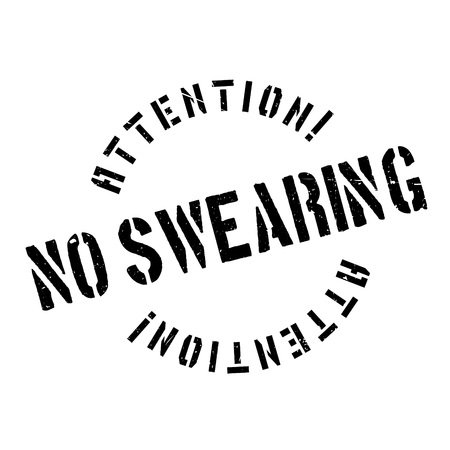 cursing: No Swearing rubber stamp. Grunge design with dust scratches. Effects can be easily removed for a clean, crisp look. Color is easily changed.
