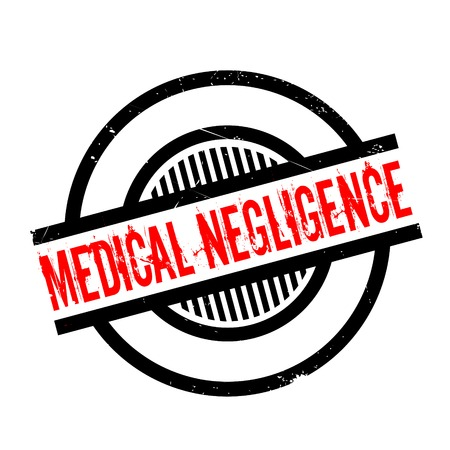 forgetful: Medical Negligence rubber stamp. Grunge design with dust scratches. Effects can be easily removed for a clean, crisp look. Color is easily changed. Stock Photo
