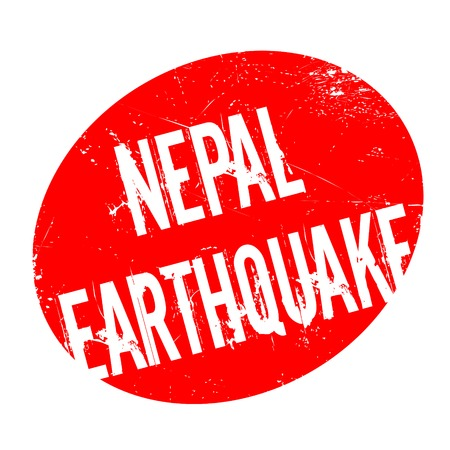 Nepal Earthquake rubber stamp. Grunge design with dust scratches. Effects can be easily removed for a clean, crisp look. Color is easily changed. Stock Photo