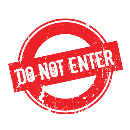 Do Not Enter rubber stamp. Grunge design with dust scratches. Effects can be easily removed for a clean, crisp look. Color is easily changed. Illustration