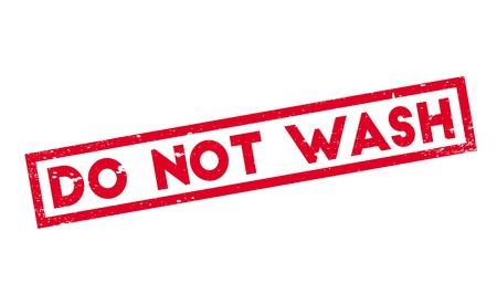Nicht waschen Stempel. Grunge-Design mit Staub Kratzern. Effekte können leicht für einen sauberen, klaren Look entfernt werden. Farbe wird leicht gewechselt. Standard-Bild - 74358250