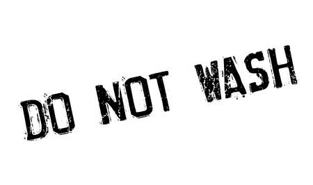 Nicht waschen Stempel. Grunge-Design mit Staub Kratzern. Effekte können leicht für einen sauberen, klaren Look entfernt werden. Farbe wird leicht gewechselt. Standard-Bild - 74358287