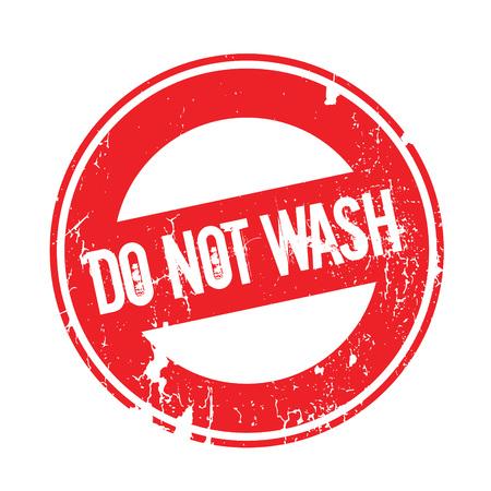 Nicht waschen Stempel. Grunge-Design mit Staub Kratzern. Effekte können leicht für einen sauberen, klaren Look entfernt werden. Farbe wird leicht gewechselt. Standard-Bild - 74358293