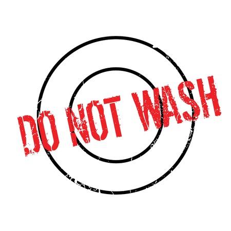 Nicht waschen Stempel. Grunge-Design mit Staub Kratzern. Effekte können leicht für einen sauberen, klaren Look entfernt werden. Farbe wird leicht gewechselt. Standard-Bild - 74358674