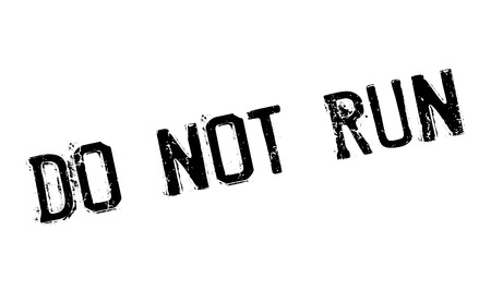 scamper: Do Not Run rubber stamp. Grunge design with dust scratches. Effects can be easily removed for a clean, crisp look. Color is easily changed.