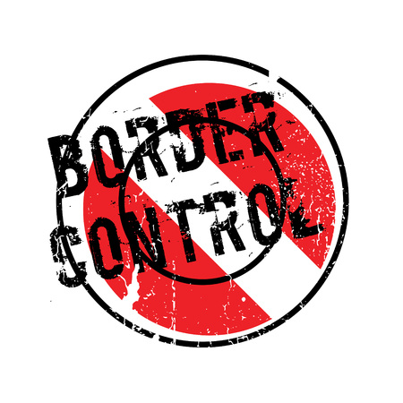 national identity: Border Control rubber stamp. Grunge design with dust scratches. Effects can be easily removed for a clean, crisp look. Color is easily changed. Illustration