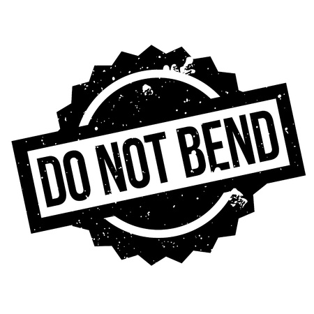 tack: Do Not Bend rubber stamp. Grunge design with dust scratches. Effects can be easily removed for a clean, crisp look. Color is easily changed.