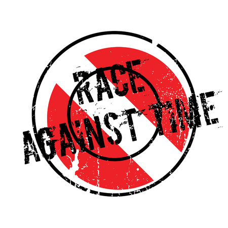 race for time: Race Against Time rubber stamp. Grunge design with dust scratches. Effects can be easily removed for a clean, crisp look. Color is easily changed.