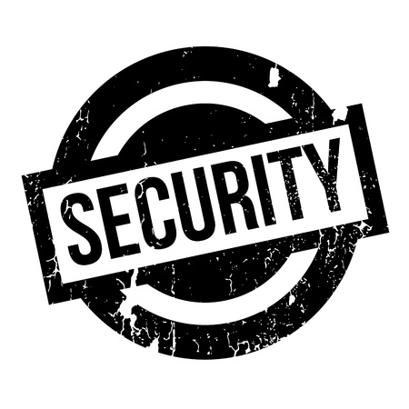 Security rubber stamp. Grunge design with dust scratches. Effects can be easily removed for a clean, crisp look. Color is easily changed. Illustration