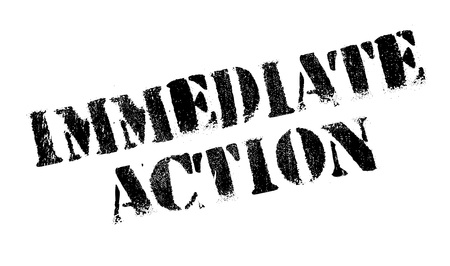 immediately: Immediate Action rubber stamp. Grunge design with dust scratches. Effects can be easily removed for a clean, crisp look. Color is easily changed.