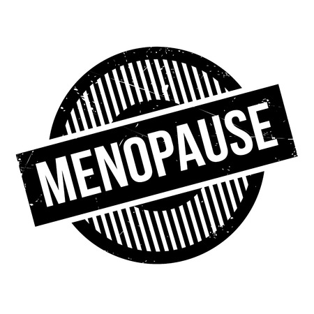 cyst: Menopause rubber stamp. Grunge design with dust scratches. Effects can be easily removed for a clean, crisp look. Color is easily changed.