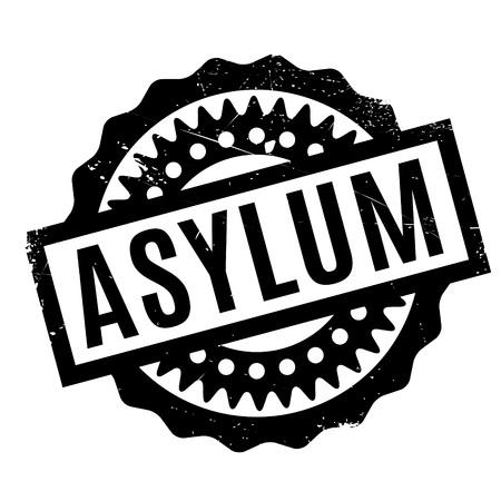 Tampon en caoutchouc d'asile. Design grunge avec rayures de poussière. Les effets peuvent être facilement éliminés pour un look net et net. La couleur est facilement modifiée.