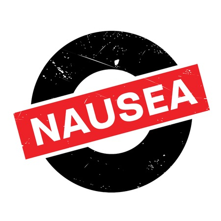 influenza: Nausea rubber stamp. Grunge design with dust scratches. Effects can be easily removed for a clean, crisp look. Color is easily changed.