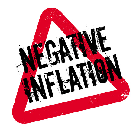 Negative Inflation rubber stamp. Grunge design with dust scratches. Effects can be easily removed for a clean, crisp look. Color is easily changed. Illustration