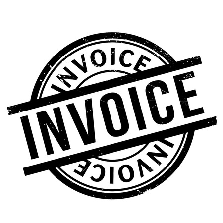 accounts payable: Invoice rubber stamp. Grunge design with dust scratches. Effects can be easily removed for a clean, crisp look. Color is easily changed.