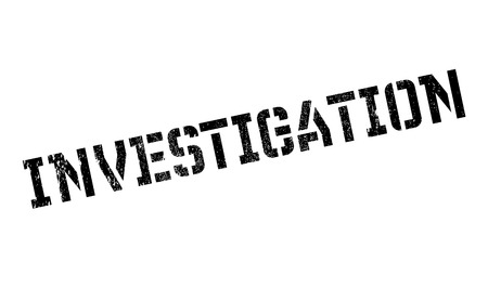 inquest: Investigation rubber stamp. Grunge design with dust scratches. Effects can be easily removed for a clean, crisp look. Color is easily changed.