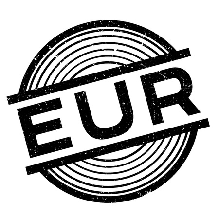 impression: Eur rubber stamp. Grunge design with dust scratches. Effects can be easily removed for a clean, crisp look. Color is easily changed. Illustration