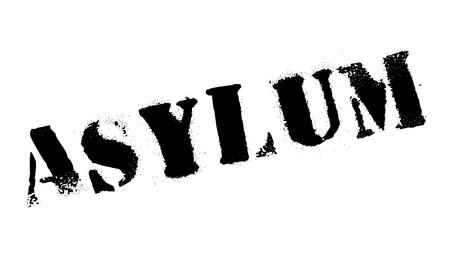 Asyl-Stempel. Grunge-Design mit Staub Kratzern. Effekte können leicht für einen sauberen, klaren Look entfernt werden. Farbe wird leicht gewechselt.