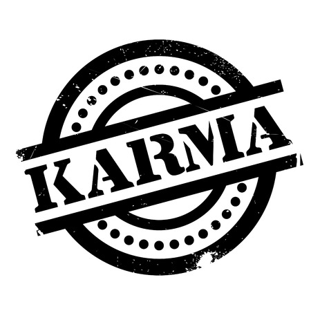 yogi aura: Karma rubber stamp. Grunge design with dust scratches. Effects can be easily removed for a clean, crisp look. Color is easily changed.