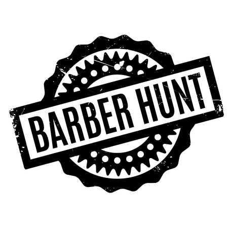 prying: Barber Hunt rubber stamp. Grunge design with dust scratches. Effects can be easily removed for a clean, crisp look. Color is easily changed.