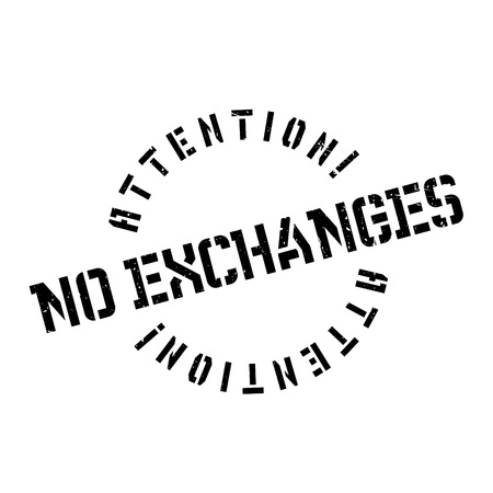 interdependence: No Exchanges rubber stamp. Grunge design with dust scratches. Effects can be easily removed for a clean, crisp look. Color is easily changed.