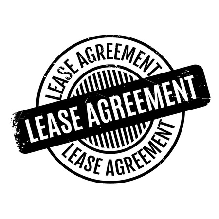 Rubberzegel leaseovereenkomst. Grungeontwerp met stofkrassen. Effecten kunnen eenvoudig worden verwijderd voor een schone, heldere look. Kleur is gemakkelijk te veranderen. Stock Illustratie