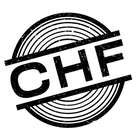 marked boxes: CHF rubber stamp. Grunge design with dust scratches. Effects can be easily removed for a clean, crisp look. Color is easily changed. Illustration