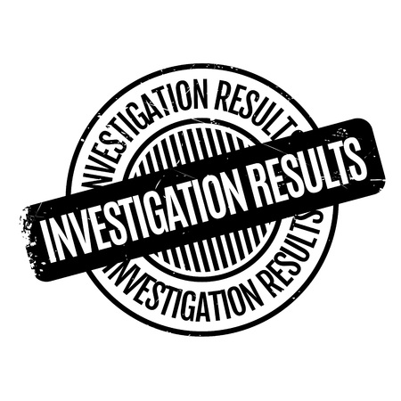 Investigation Results rubber stamp. Grunge design with dust scratches. Effects can be easily removed for a clean, crisp look. Color is easily changed. Illustration