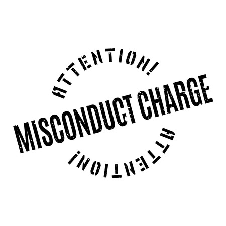 immoral: Misconduct Charge rubber stamp. Grunge design with dust scratches. Effects can be easily removed for a clean, crisp look. Color is easily changed. Illustration