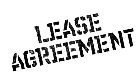 Lease Agreement rubber stamp. Grunge design with dust scratches. Effects can be easily removed for a clean, crisp look. Color is easily changed.