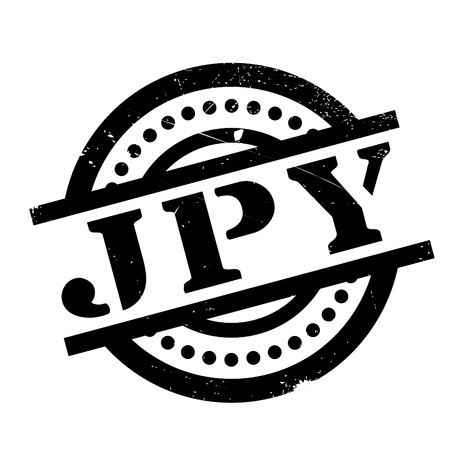 Jpy rubber stamp. Grunge design with dust scratches. Effects can be easily removed for a clean, crisp look. Color is easily changed.