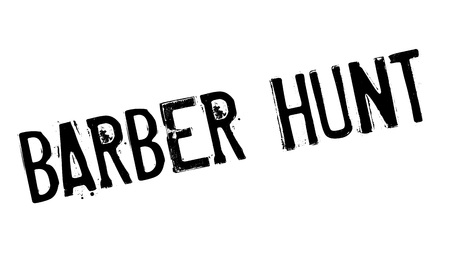 inquest: Barber Hunt rubber stamp. Grunge design with dust scratches. Effects can be easily removed for a clean, crisp look. Color is easily changed.
