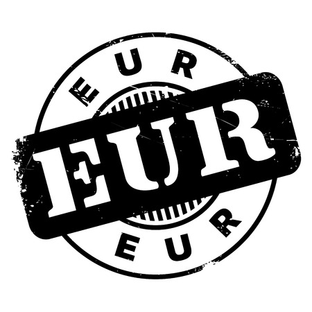 Eur rubber stamp. Grunge design with dust scratches. Effects can be easily removed for a clean, crisp look. Color is easily changed. Illustration