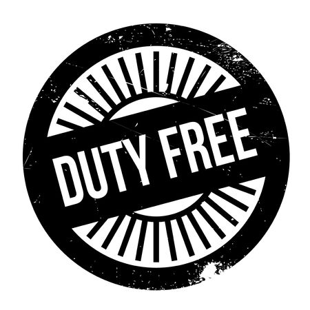 impost: Duty free stamp. Grunge design with dust scratches. Effects can be easily removed for a clean, crisp look. Color is easily changed. Illustration