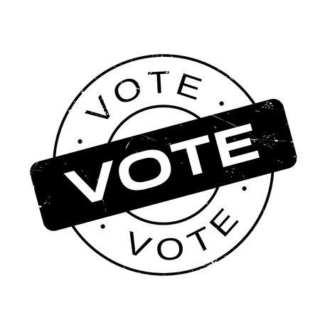 presidential: Vote rubber stamp. Grunge design with dust scratches. Effects can be easily removed for a clean, crisp look. Color is easily changed.
