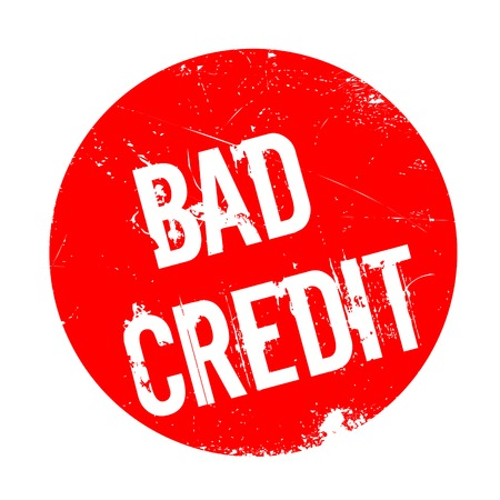 poverty: Bad Credit rubber stamp. Grunge design with dust scratches. Effects can be easily removed for a clean, crisp look. Color is easily changed.