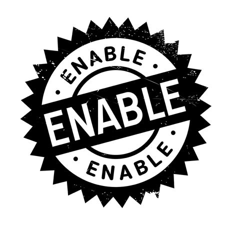 enable: Enable stamp. Grunge design with dust scratches. Effects can be easily removed for a clean, crisp look. Color is easily changed.
