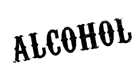 Alcohol rubber stamp. Grunge design with dust scratches. Effects can be easily removed for a clean, crisp look. Color is easily changed. Illustration