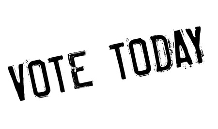 yea: Vote Today rubber stamp. Grunge design with dust scratches. Effects can be easily removed for a clean, crisp look. Color is easily changed.