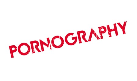 Pornography rubber stamp. Grunge design with dust scratches. Effects can be easily removed for a clean, crisp look. Color is easily changed. Illustration
