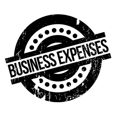 tax policy: Business Expenses rubber stamp. Grunge design with dust scratches. Effects can be easily removed for a clean, crisp look. Color is easily changed. Illustration