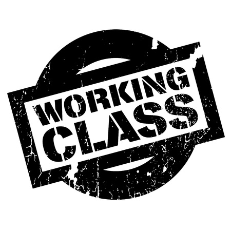 Working Class rubber stamp. Grunge design with dust scratches. Effects can be easily removed for a clean, crisp look. Color is easily changed. Illustration
