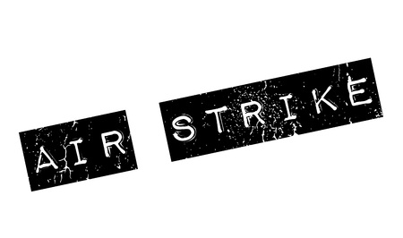 Air Strike rubber stamp. Grunge design with dust scratches. Effects can be easily removed for a clean, crisp look. Color is easily changed.