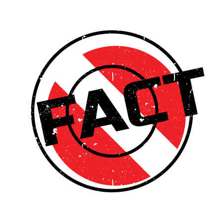 Fact rubber stamp. Grunge design with dust scratches. Effects can be easily removed for a clean, crisp look. Color is easily changed.