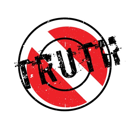 Truth rubber stamp. Grunge design with dust scratches. Effects can be easily removed for a clean, crisp look. Color is easily changed. Illustration