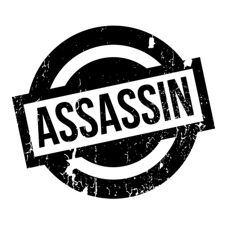 capital punishment: Assassin rubber stamp. Grunge design with dust scratches. Effects can be easily removed for a clean, crisp look. Color is easily changed. Illustration