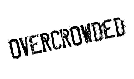 overcrowding: Overcrowded rubber stamp. Grunge design with dust scratches. Effects can be easily removed for a clean, crisp look. Color is easily changed. Illustration
