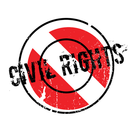 jr: Civil Rights rubber stamp. Grunge design with dust scratches. Effects can be easily removed for a clean, crisp look. Color is easily changed. Illustration